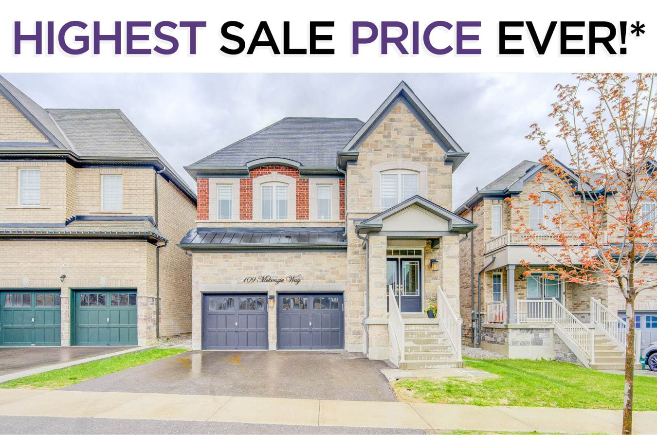 109 McKenzie Way - Sold By The Bradford West Gwillimbury Real Estate Experts